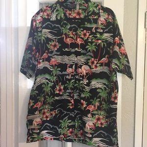 Flamingo Hawaiian shirt